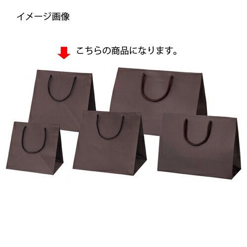 マット貼りブライトバッグ ブラウン 28×25×28 50枚【店舗備品 包装紙 ラッピング 袋 ディスプレー店舗】【ECJ】