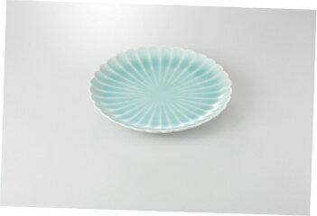 【まとめ買い10個セット品】和食器 青白磁菊型 8.0皿 35K198-04 まごころ第35集 【キャンセル/返品不可】【ECJ】
