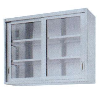 【業務用】業務用ガラス戸吊戸棚 GHL型 GHL-1535 1500×350×900 【 メーカー直送/代引不可 】  【  】