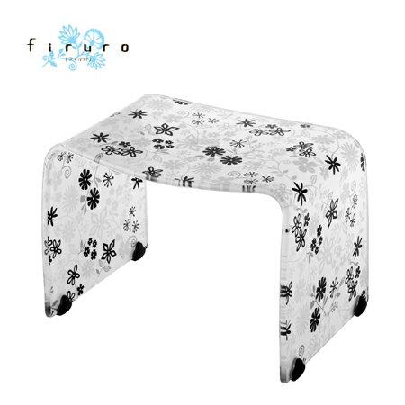 風呂椅子 バスチェアー Mサイズ フィルロ フラワー ブラック【ECJ】