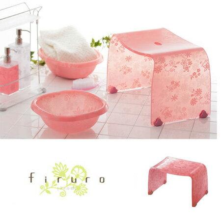 風呂椅子 バスチェアー Mサイズ フィルロ フラワー ピンク【ECJ】