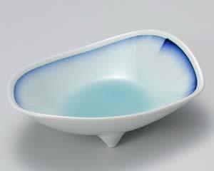 【まとめ買い10個セット品】和食器 ロ011-166 青白磁藍流し刺身鉢 【キャンセル/返品不可】【ECJ】