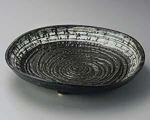 和食器 ト165-116 灰釉白流し尺三皿 【キャンセル/返品不可】【ECJ】