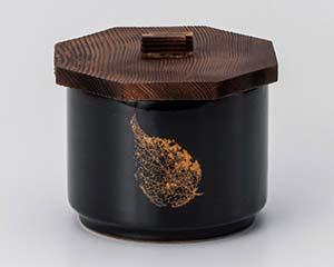 【まとめ買い10個セット品】和食器 ホ353-296 天目木の葉飯器(新スタック型・蓋付) 【キャンセル/返品不可】【ECJ】