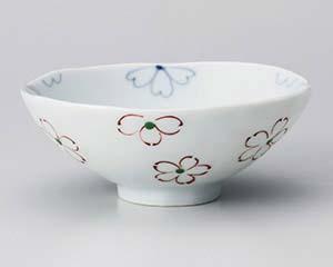 【まとめ買い10個セット品】和食器 オ360-186 花みずき平茶碗(小) 【キャンセル/返品不可】【ECJ】