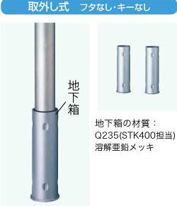 LIXIL スペースガード(ステンレス) U60型  取外し式 フタなし・キーなし LNT11+LNY11【送料無料】