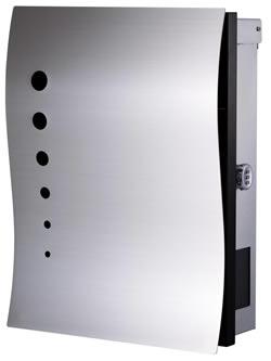 送料無料 Only One 郵便ポスト NAMI PLUS(ナミ プラス)壁付けタイプ ドット KS1-B110A[壁掛けポスト/戸建ポスト/郵便受け/郵便ポスト]