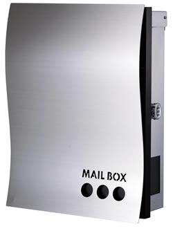 送料無料 Only One 郵便ポスト NAMI PLUS(ナミ プラス)壁付けタイプ ドロップ KS1-B110C[壁掛けポスト/戸建ポスト/郵便受け/郵便ポスト]