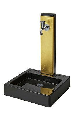 トーシン 水栓柱一式セット 水栓柱アンフェア ヴォーグ(金箔)SC-UNFAIR-VG4-AU+ガーデンパンNEWヴォーグGPT-NVGG-BK+蛇口JA-GRH-COSTA-L※受注生産品