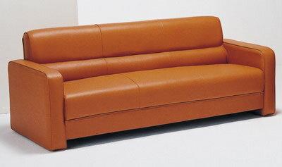 【ビット】 3人掛けソファ 3Pチェアー PVCレザー張り 6色対応【MARUSE-0059】
