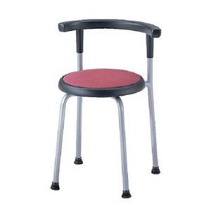 ノーリツイス 丸椅子 座固定背付スツール 座直径360mm ビニールレザー張り【R-530L】