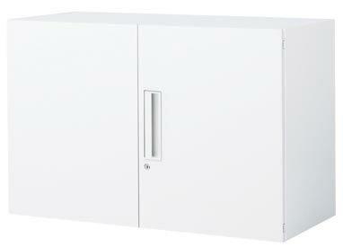 コクヨ エディア 収納システム 高さ600mmタイプ 上/下置き共用 両開き扉 幅900×奥行き400mm【BWU-S29SN】