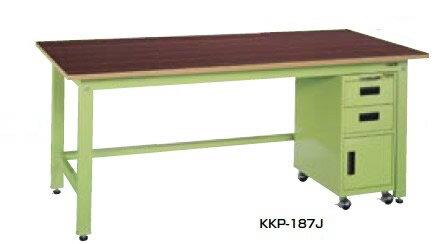 サカエ KK 軽量作業台 キャビネットワゴン付 アイボリー 均等耐荷重:350kg【KKP-127JI】