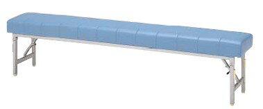 折りたたみロビー用ベンチ MC-1428S 幅1800×奥行き300×座の高さ420mm【MC-1428S】