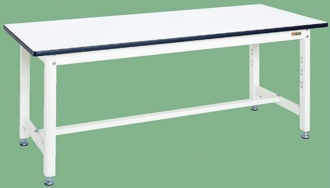 中量作業台 扇形支柱(パールホワイト) W1800×D750×H700mm 耐荷重:400kg【KF-69W】