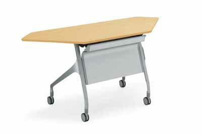 コクヨ 会議用テーブル エピファイ 会議用テーブル 天板フラップ式 配線キャップ付き パネル付き コーナータイプ 幅1565×奥行き600×高さ720mm【KT-PCW1001】