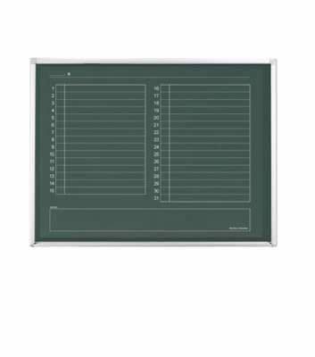 コクヨ 壁掛グリーンボード(黒板) 月行事ヨコ 幅1205×高さ905mm BB-H900シリーズ【BB-H934M】
