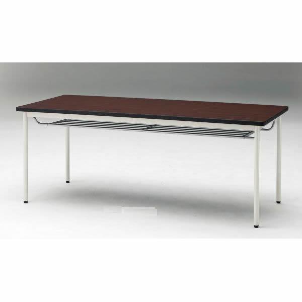 ミーティングテーブル TD-Tシリーズ 共貼りタイプ  棚付き 幅900×奥行900×高さ700mm【TD-T0990TM】