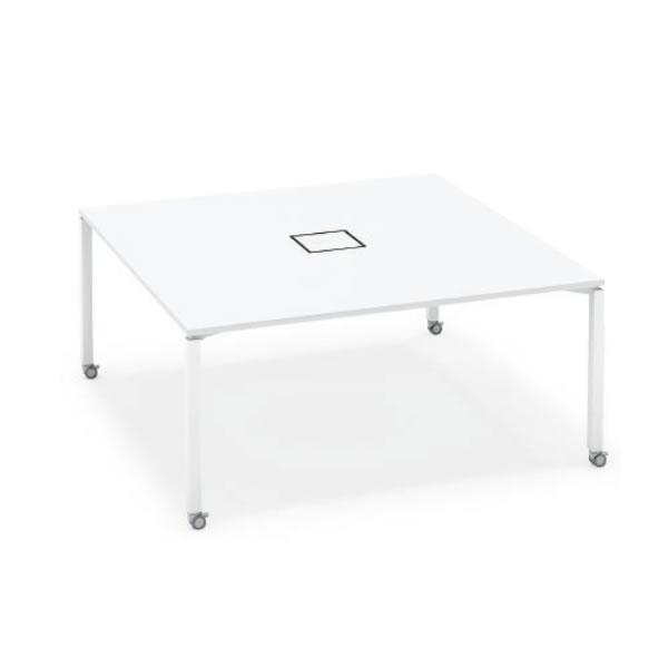 ワークフィット スタンダードテーブル 両面タイプ 幅1600×奥行1600 アジャスター脚【SD-WFA1616】