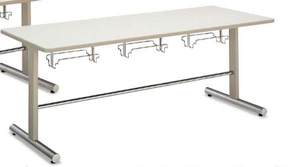 コクヨ 食堂用テーブル イスハンガー付きダイニングテーブル 幅1800×奥行750×高さ700mm【LT-125N】