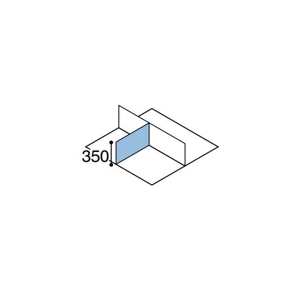 ワークフィット オプション デスクトップパネル サイド用 奥行700mm【SDV-WF73S】