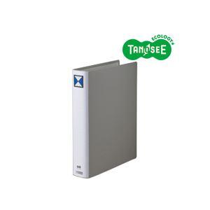 直送・代引不可(まとめ)TANOSEE 両開きパイプ式ファイル A4タテ 40mmとじ グレー 30冊別商品の同時注文不可