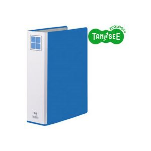 直送・代引不可(まとめ)TANOSEE 両開きパイプ式ファイルE A4タテ 60mmとじ 青 30冊別商品の同時注文不可
