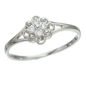 直送・代引不可プラチナダイヤリング 指輪 デザインリング3型 フローラ 19号別商品の同時注文不可