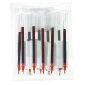 直送・代引不可 (業務用100セット) ジョインテックス ゲルボールペン替芯 赤 H011J-RD-10 別商品の同時注文不可