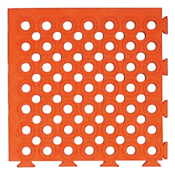直送・代引不可 ソフトチェッカーマットS(オレンジ) 【32枚(2平方メートル)1組】【代引不可】 別商品の同時注文不可