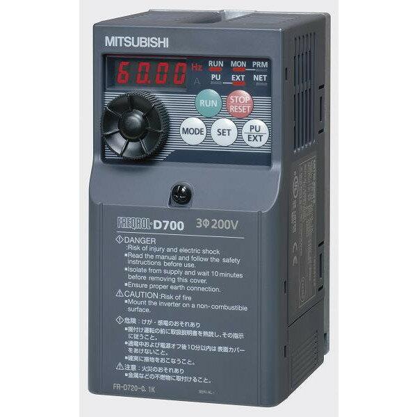 三菱電機(MITSUBISHI) [FR-D720-5.5K] 小形インバータ FREQROL-D700シリーズ FRD7205.5K