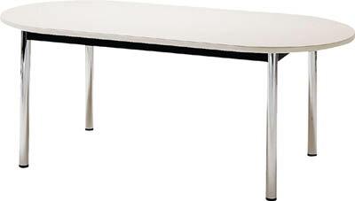 TOKIO[TC1812RW] 「直送」【代引不可・他メーカー同梱不可】 ミーティングテーブル 楕円型 1800×1200mm ホワイト