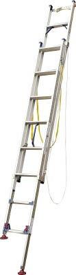 ピカ[LGW44GD] 「直送」【代引不可・他メーカー同梱不可】 脚アジャスト式2連はしごLGW型電柱支え・巻付ベルト付属4.2~4.6m【送料無料】
