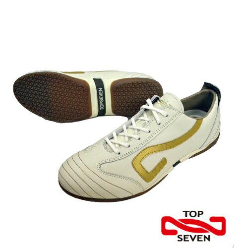 【TOP SEVEN】トップセブン スニーカー TS-1021 CREAM/GOLD(クリーム/ゴールド)【マットレザー】送料無料【あす楽】12-112レザー