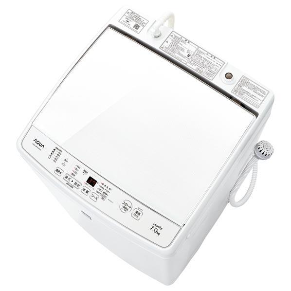 【送料無料】AQUA 7.0kg全自動洗濯機 keyword キーワードホワイト AQW-GP7E4(KW) [AQWGP7E4KW]【RNH】