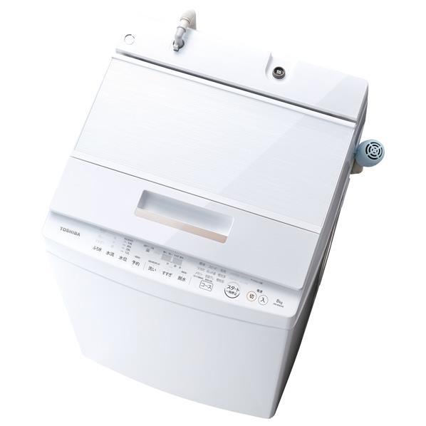 【送料無料】東芝 8.0kg全自動洗濯機 ZABOON グランホワイト AW-8D6(W) [AW8D6W]【RNH】