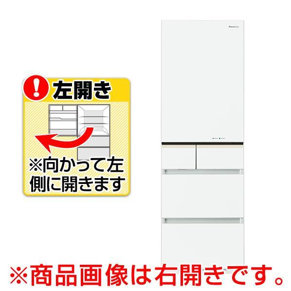 【送料無料】パナソニック 【左開き】406L 5ドアノンフロン冷蔵庫 スノーホワイト NR-E413PV-LW [NRE413PVLW]