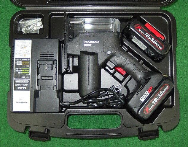 パナソニック 18V-3.0Ah 軽量デュアル角穴カッター EZ45A3PN2G-B 黒 新品