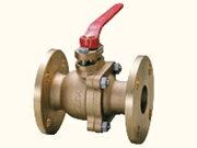KITZ (キッツ) 10K 青銅製ボールバルブ (フルボア・フランジ形) TB 呼び径 1 (25A)