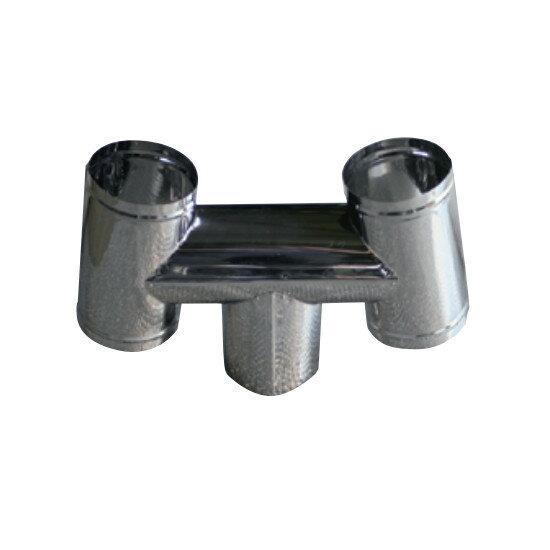 信州工業 オプション部品 ステンレス煙突A型 材質:SUS430 厚み:0.3~0.4mm H笠(165φ) (SG-100CXS・SG-100H・SBS-050向け)