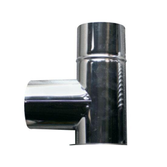 信州工業 オプション部品 ステンレス煙突A型 材質:SUS430 厚み:0.3~0.4mm L曲り(220φ) (SO-507XS向け)