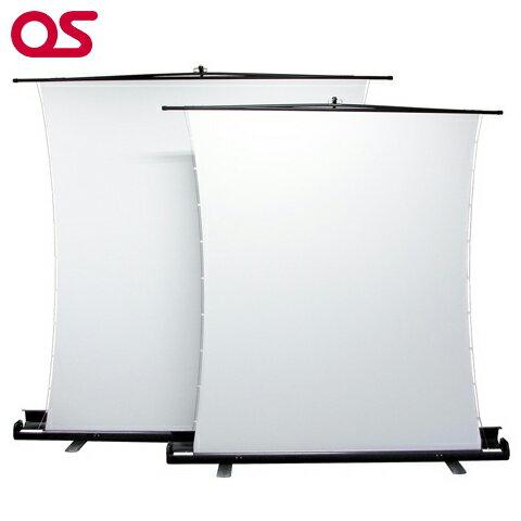 メーカー直販【自立型 63インチ サイドテンション プロジェクタースクリーン】OS オーエス 63インチ(アスペクトフリー)SVS-63FN-H