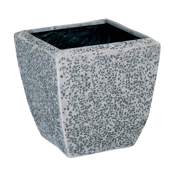 ファイバーグラス鉢カバー:ブライトBS-40グレー(10号鉢用)