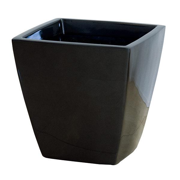 ファイバーグラス鉢カバー:アーバンポットAS型メタリックグレーAS-43(8~10号鉢用)