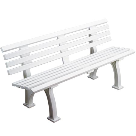 カネヤ(KANEYA) 樹脂ベンチ背付150 K-2154 【設備 用品 ベンチ】