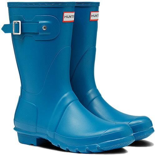 【送料無料】ハンター(HUNTER) レディース オリジナルショート オーシャン ブルー WFS1000RMA 【長靴 ラバーブーツ 雨靴】