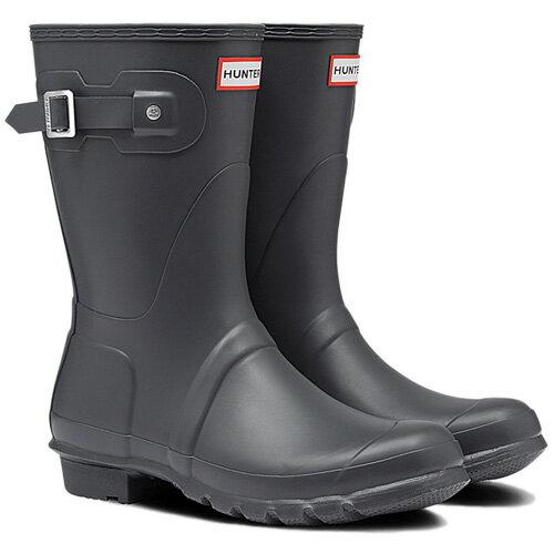 【送料無料】ハンター(HUNTER) レディース オリジナルショート ダーク スレート WFS1000RMA 【長靴 ラバーブーツ 雨靴】