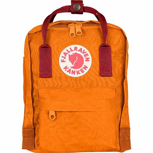 【送料無料】フェールラーベン(FJALL RAVEN) カンケン ミニ バッグ Kanken Mini 212-325-Burnt-Orange/Deep-Red 23561 【デイパック リュックサック ザック バックパック】