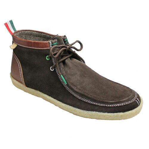 【BENETTON(ベネトン)】カラフルなカラーリングのワラビーブーツ・BN2002(ダークブラウンコンビ)/メンズ 靴