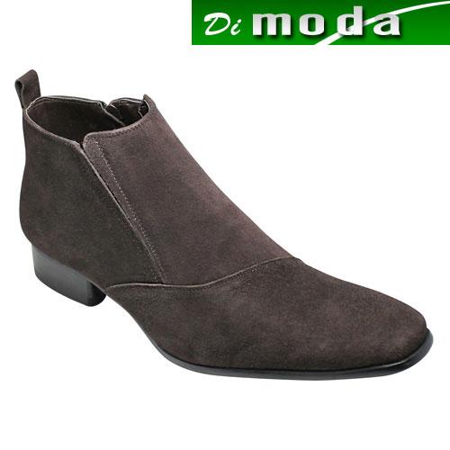 【SARABANDE(サラバンド)】有機的なラインが魅力の牛革ブーツ(片側流れ)・SB7777(ブラウンスエード)/メンズ 靴